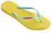 havaianas Slim Logo Flips Women Revival Yellow